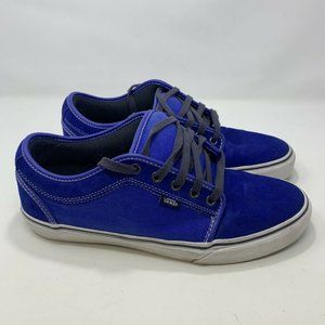 Vans Royal Blue Mens Skate Board Shoes Size 11